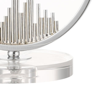 Magnalux Manhatten Polished Chrome And Crystal Table Lamp C/W Shade
