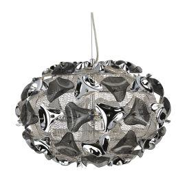 Searchlight 5803-3Sm Triangle Chrome 3 Light Pendant With Smoked Acrylic Curved Detail