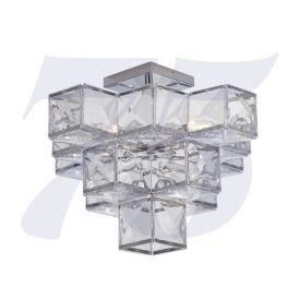 Jillian 27A-5Cc 5Lt Acryclic Semi Flush - Chrome