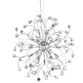 Searchlight 6629-24Cc Sonja Chrome 24 Light Fitting With Sparkling Crystal Balls Decoration