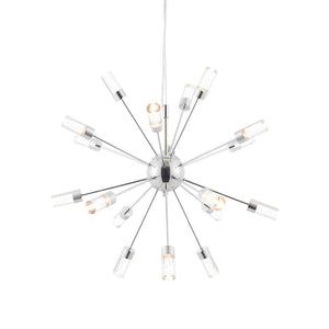 Endon 73046 - Glacier 18Lt Pendant 1W Chrome Effect Plate & Clear Acrylic With Bubbles