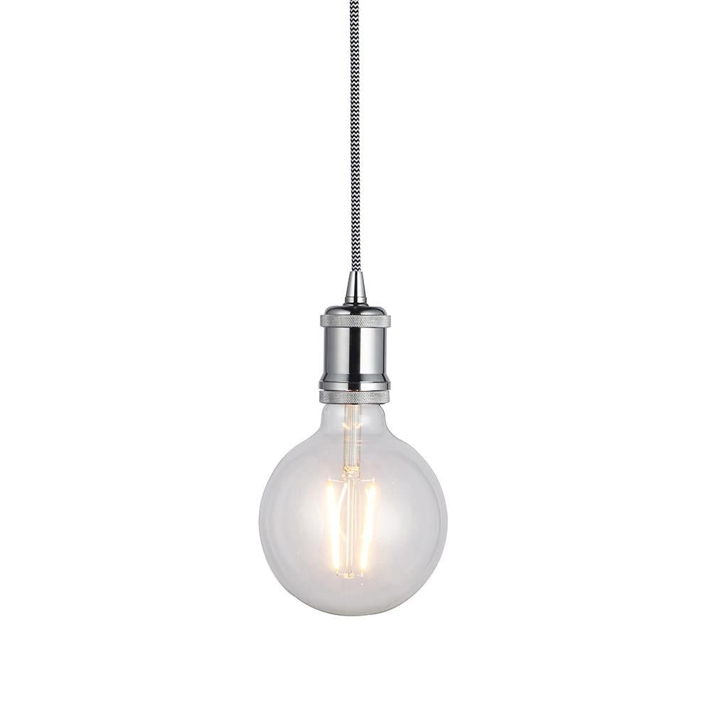 Endon 76584 - Cambourne Pendant 60W Chrome Effect Plate