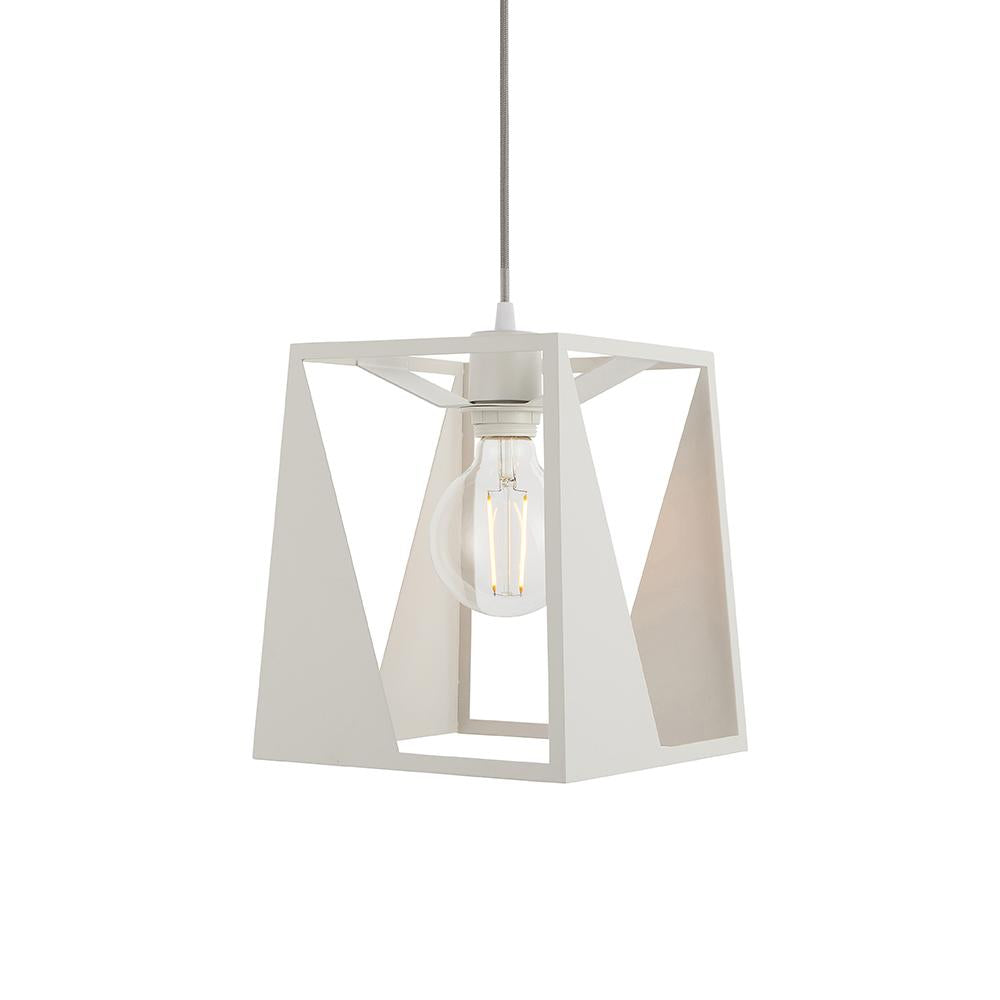 Endon 79858 - Kolo Pendant 60W Matt White Paint