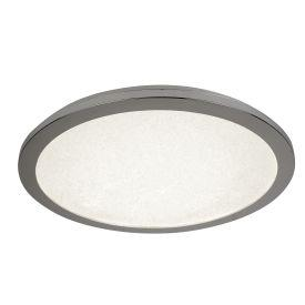 Searchlight 8100-60Cc Led Flush Ceiling Light, Dia 60Cm, Chrome And Crystal Sand, Ip44