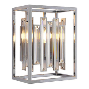 Endon 81932 - Acadia Wall 40W Clear Crystal Detail & Chrome Effect Plate