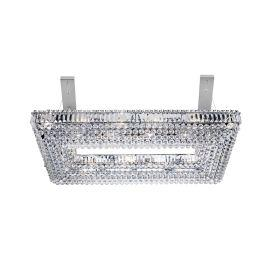 Searchlight 8382Cc Vesuvius Chrome Rectangle 26 Light Chandelier With Crystal Coffin Drops