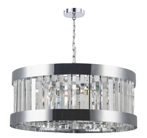 Magnalux PAN05CH Pandora 5 Light Crystal Pendant Polished Chrome