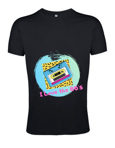 T-Shirt - I Love 80's - Sol's Regent Fit