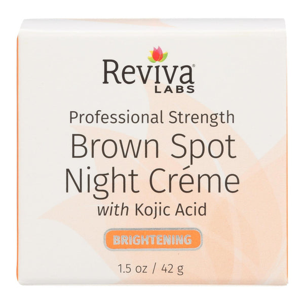 Reviva Labs - Brown Spot Night Cream with Kojic Acid - 1 oz