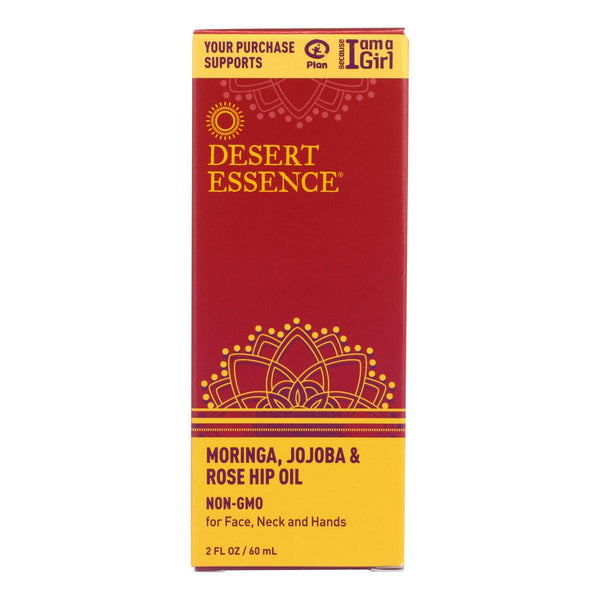 Desert Essence - Moringa Jojoba and Rose Hip Oil - 2 oz