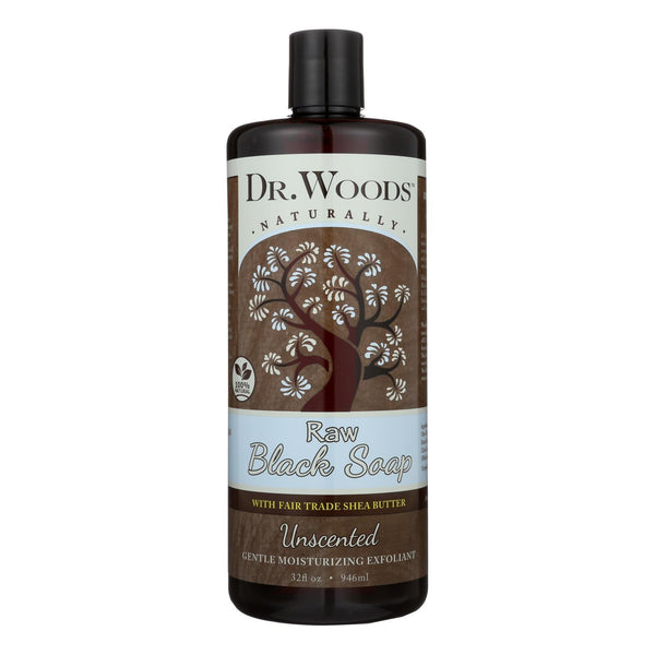 Dr. Woods Naturals Black Soap - Shea Vision - Unscented - 32 oz