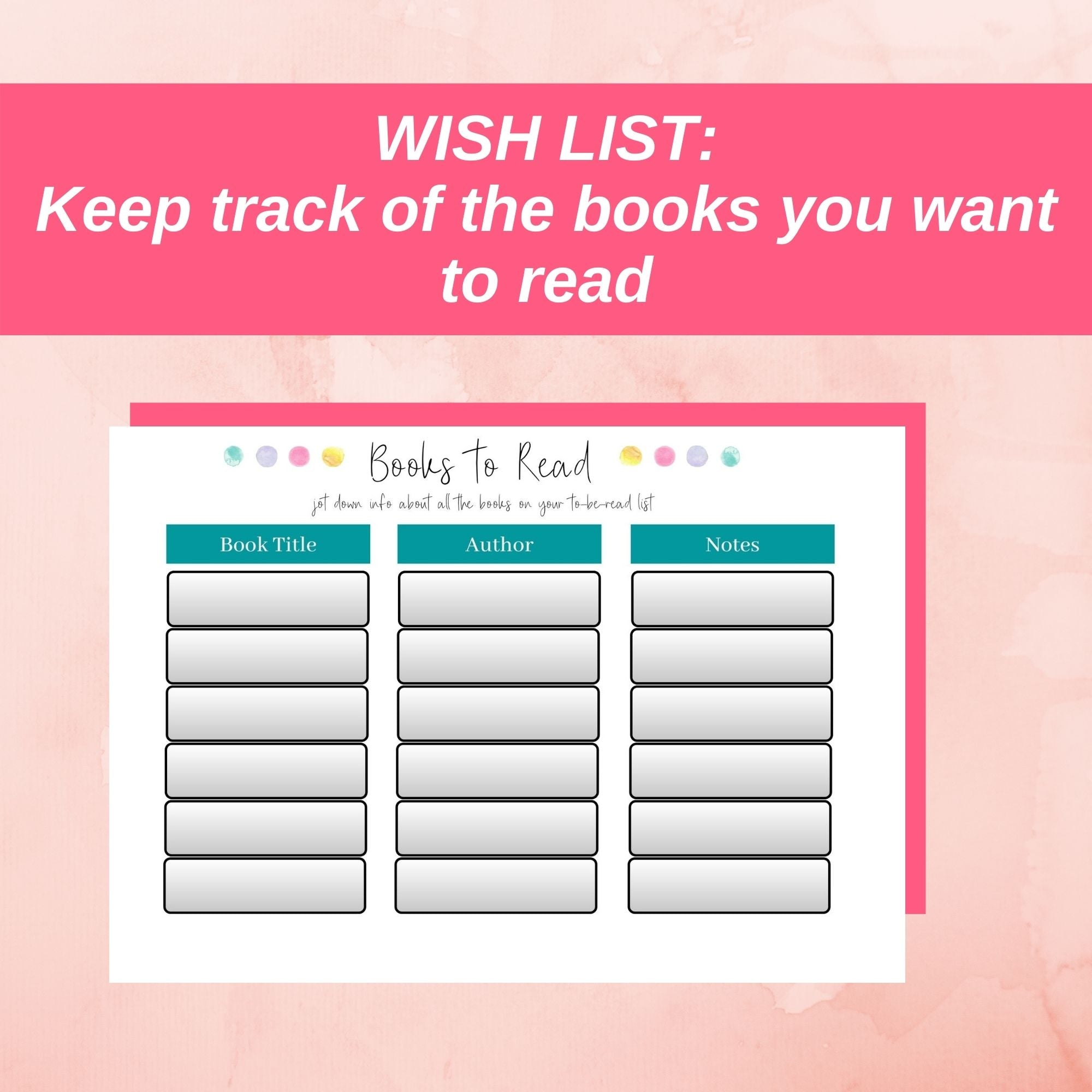 wish list books to read