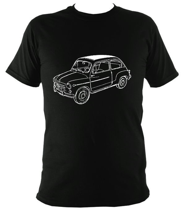 Fiat 600 Car Bizzarrini Reverse T-Shirt