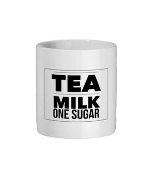 Tea Milk One Sugar Original Mug Ceramic