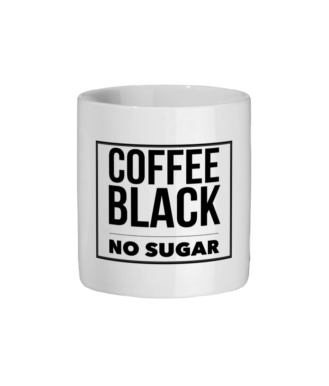 Coffee Black No Sugar Mug Ceramic