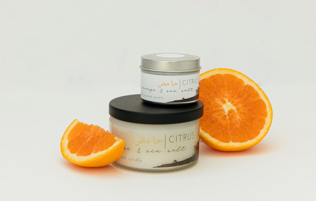 CITRUS | jaffa orange & sea salt scented candle