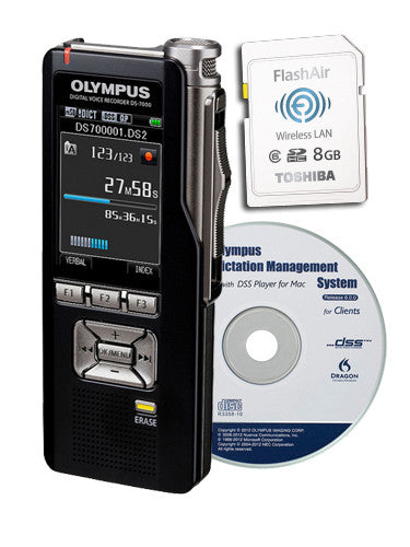 Olympus DS7000 Digital Recorder with FlashAir