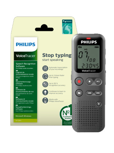 Philips DVT1115 Digital Voice Tracer with Speech Recognition