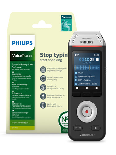 Philips DVT2810 Digital Voice Tracer Speech Recognition Kit