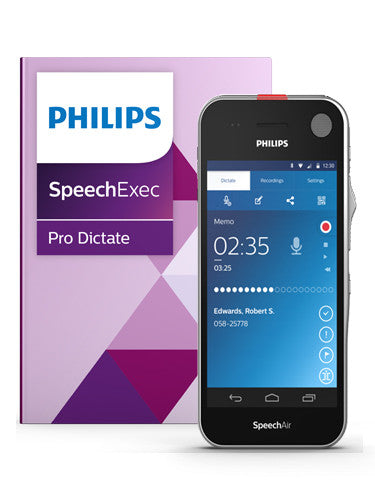 Philips SpeechAir PSE1200 Smart Voice Recorder with Speech Recognition