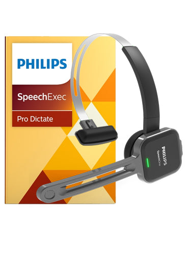 Philips PSM6800 SpeechOne Wireless Headset with SpeechExec Pro Dictate Software