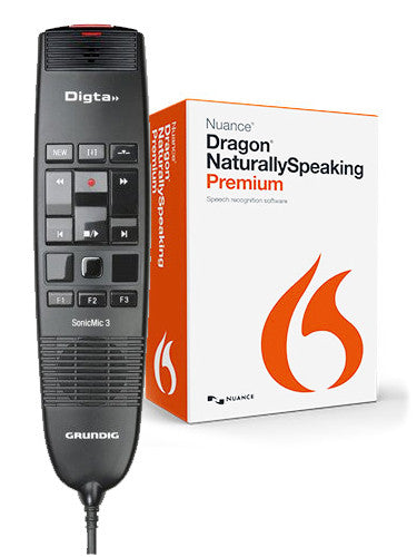 Grundig Digta SonicMic 3 with Dragon NaturallySpeaking Premium v13