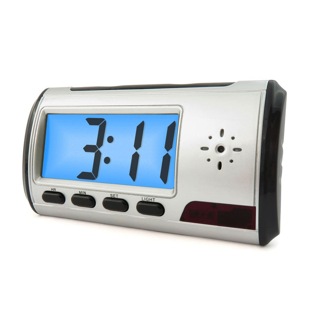 Hidden Camera Spycam Clock with Motion-Activated Recording