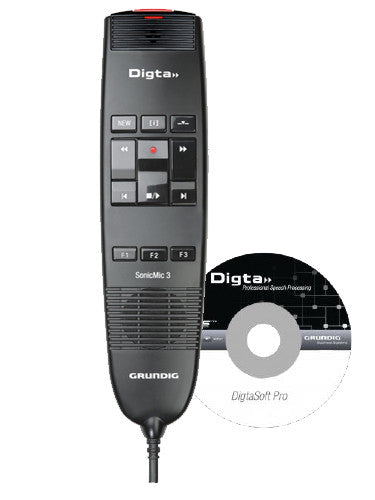 Grundig Digta SonicMic 3 with DigtaSoft Pro Software - PDD8300