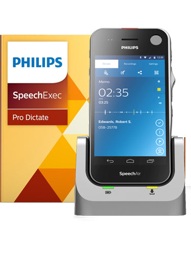 Philips SpeechAir PSP1200 Smart Voice Recorder with SpeechExec Pro Dictate Software
