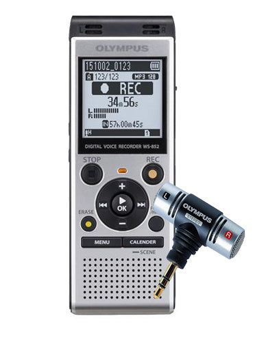 Olympus WS852 Digital Voice Recorder with ME51S Stereo Microphone