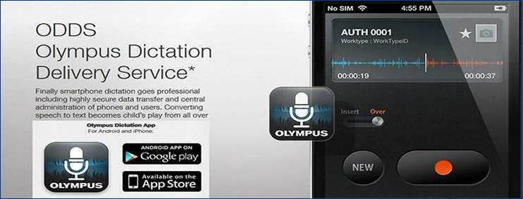 Olympus ODDS Smart Phone Recorder App