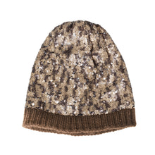 Load image into Gallery viewer, Scintillare - sequins knitted beanie