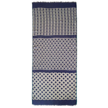 Load image into Gallery viewer, Caicos blue - modal / linen scarf with grosgrain ribbons