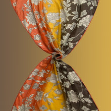 Load image into Gallery viewer, Hermosa orange - cotton khadi scarf with grosgrain ribbons