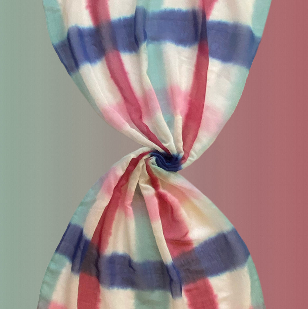 Nuevitas pastel - Shaded cotton / silk scarf