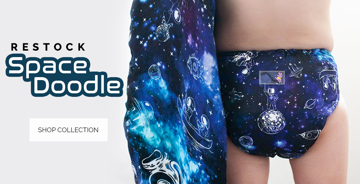 Space Doodle Cloth Diapers