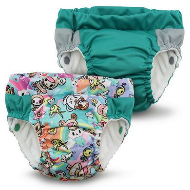 Lil Learnerz Training Pants & Swim Diaper - tokidoki x Kanga Care - tokiSweet & Peacock 2 pack