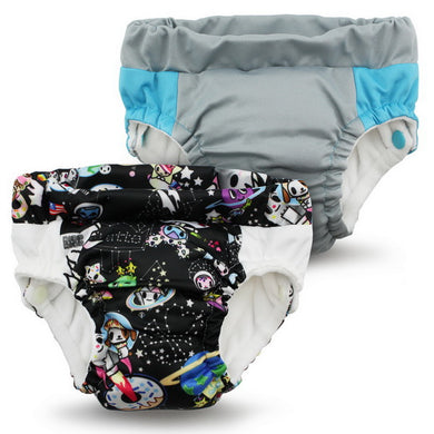 Lil Learnerz Training Pants & Swim Diaper - tokidoki x Kanga Care - tokiSpace & Platinum 2 pack