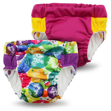 Lil Learnerz Training Pants & Swim Diaper - tokidoki x Kanga Care - tokiCorno & Sherbert 2 pack