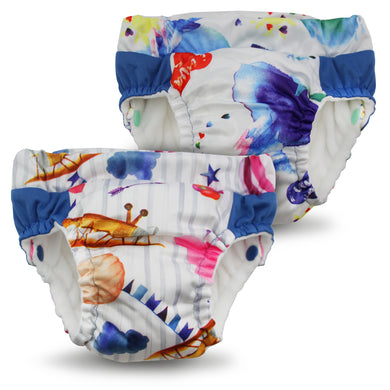 Lil Learnerz Training Pants & Swim Diaper - Lava & Soar