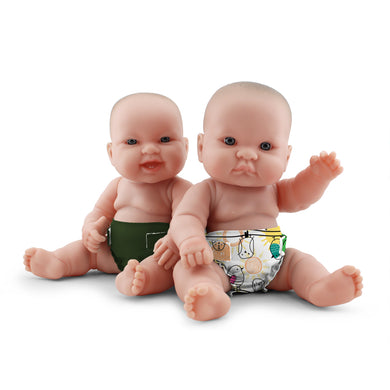 Rumparooz Doll Diapers (2 pk) - Tweet + Pine