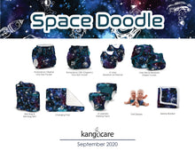 Load image into Gallery viewer, Rumparooz Doll Diapers (2 pk) - Space Doodle + Caribbean
