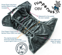 Load image into Gallery viewer, Rumparooz OBV One Size Pocket Cloth Diaper - Parrot