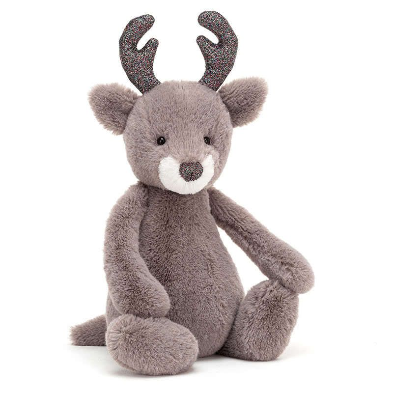 Jellycat Bashful Glitz Reindeer :: Medium (12