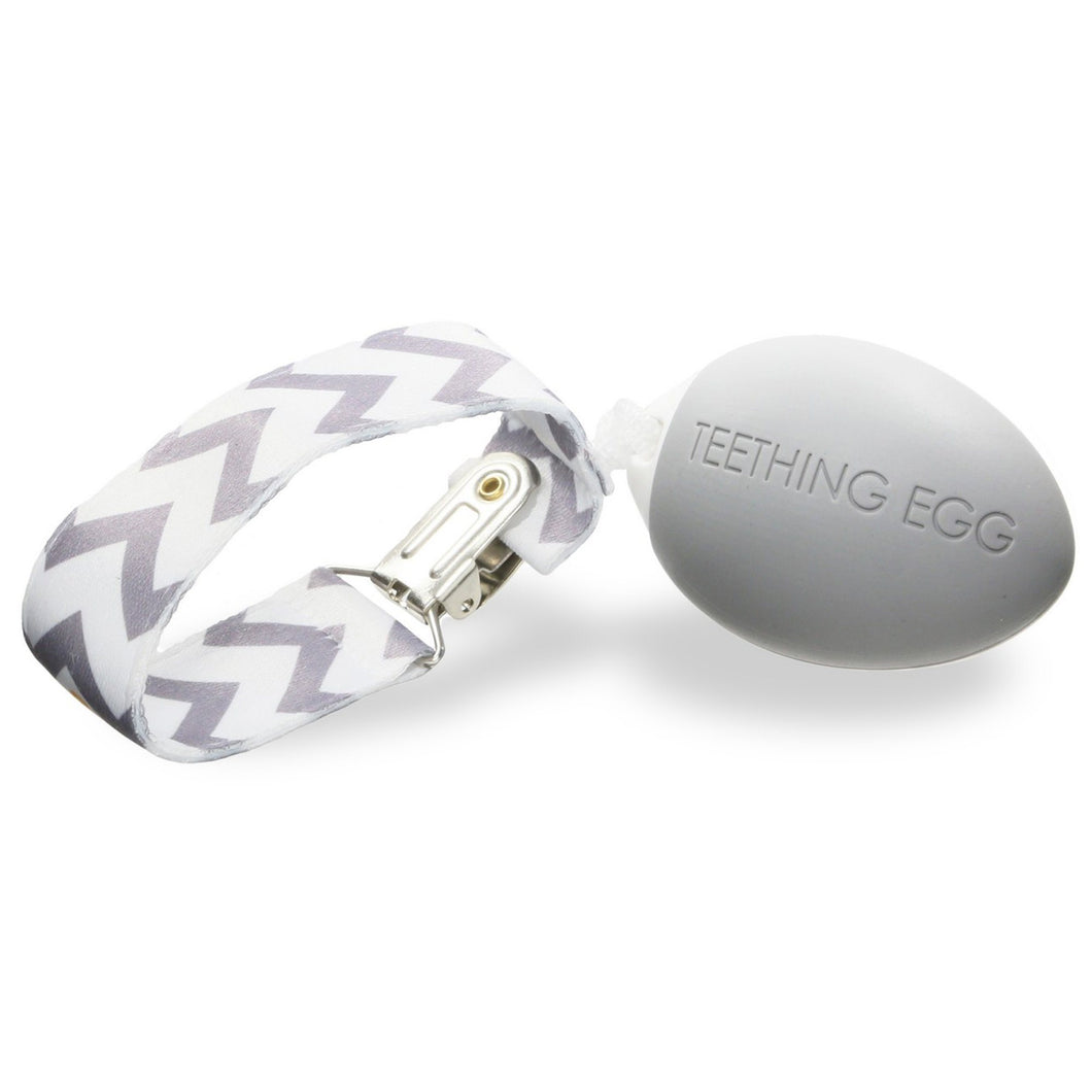 The Teething Egg :: Soft Gray
