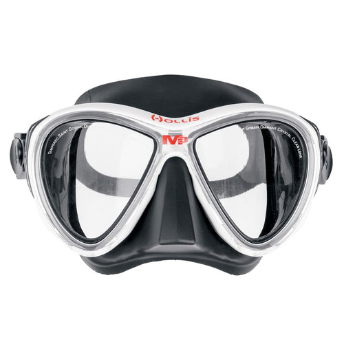 Hollis M3 Mask Black/White Trim - Divealot Scuba