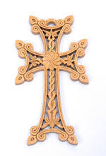 Load image into Gallery viewer, Hand Carved Wooden Cross