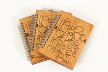 Load image into Gallery viewer, Armenian Alphabet Wood Carved Journal