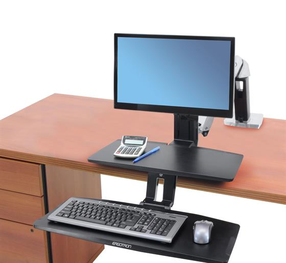 Ergotron WorkFit-A, Single LD Workstation with Suspended Keyboard (24-390-026)