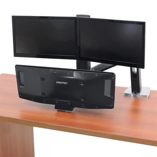 Ergotron WorkFit-A, Dual Workstation with Suspended Keyboard (24-392-026)
